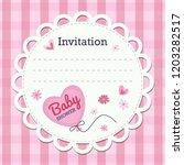 baby shower invitation card.... | Shutterstock .eps vector #1203282517
