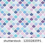 mermaid tail pattern. trendy... | Shutterstock . vector #1203283591
