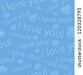 seamless texture for valentine... | Shutterstock .eps vector #120328795