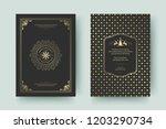 christmas greeting card design... | Shutterstock .eps vector #1203290734