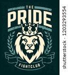 emblem design template with... | Shutterstock .eps vector #1203293554