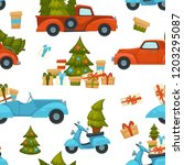 merry christmas winter holiday... | Shutterstock .eps vector #1203295087