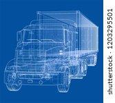 truck with semitrailer. vector...   Shutterstock .eps vector #1203295501