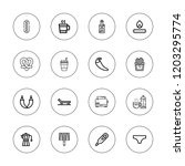 hot icon set. collection of 16... | Shutterstock .eps vector #1203295774