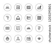 architect icon set. collection... | Shutterstock .eps vector #1203295801