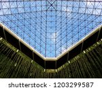 minimal abstract architectural... | Shutterstock . vector #1203299587