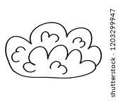 doodle cartoons cloud on white... | Shutterstock .eps vector #1203299947