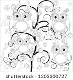 coloring book for adult and... | Shutterstock .eps vector #1203300727