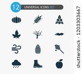 seasonal icons set with honey... | Shutterstock .eps vector #1203303667