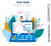 concept illustrations of... | Shutterstock .eps vector #1203309571