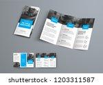 tri fold vector brochure... | Shutterstock .eps vector #1203311587