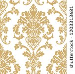 vector beautiful damask pattern.... | Shutterstock .eps vector #1203313681