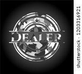 dealer on grey camouflage... | Shutterstock .eps vector #1203316921