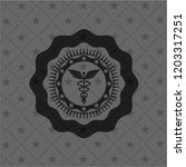 caduceus medical icon inside... | Shutterstock .eps vector #1203317251