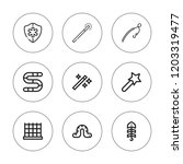 rod icon set. collection of 9... | Shutterstock .eps vector #1203319477
