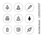 spacecraft icon set. collection ... | Shutterstock .eps vector #1203319537