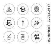 magical icon set. collection of ... | Shutterstock .eps vector #1203319567