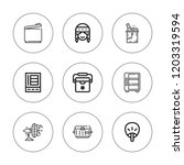 cooler icon set. collection of... | Shutterstock .eps vector #1203319594