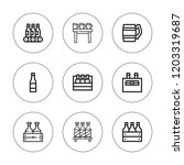 lager icon set. collection of 9 ... | Shutterstock .eps vector #1203319687