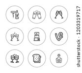 wineglass icon set. collection... | Shutterstock .eps vector #1203319717