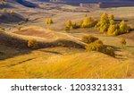 landscape of autumn forest on... | Shutterstock . vector #1203321331