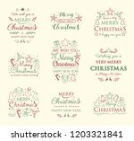collection of christmas... | Shutterstock .eps vector #1203321841