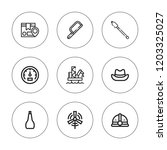 industrial icon set. collection ... | Shutterstock .eps vector #1203325027