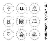 hanger icon set. collection of... | Shutterstock .eps vector #1203325207