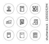 publication icon set....   Shutterstock .eps vector #1203325294