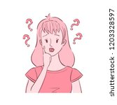 illustration of young confused... | Shutterstock .eps vector #1203328597