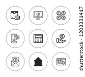 atm icon set. collection of 9... | Shutterstock .eps vector #1203331417