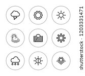 sunny icon set. collection of 9 ... | Shutterstock .eps vector #1203331471