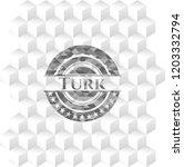 turk grey emblem with geometric ... | Shutterstock .eps vector #1203332794