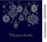doodle textured christmas...   Shutterstock . vector #120333781