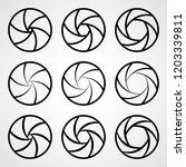 set of aperture icons. vector... | Shutterstock .eps vector #1203339811