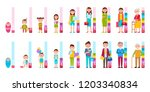 humans cycle of life from baby...   Shutterstock . vector #1203340834