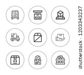 deliver icon set. collection of ... | Shutterstock .eps vector #1203343237