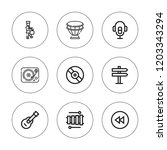 song icon set. collection of 9...   Shutterstock .eps vector #1203343294