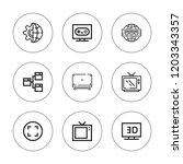 wide icon set. collection of 9... | Shutterstock .eps vector #1203343357