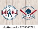 set of baseball club badge.... | Shutterstock .eps vector #1203343771