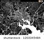 simple map of baltimore ... | Shutterstock .eps vector #1203345484