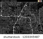 simple map of las vegas  nevada ...   Shutterstock .eps vector #1203345487