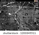 simple map of denver  colorado  ...   Shutterstock .eps vector #1203345511