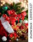 christmas holidays composition... | Shutterstock . vector #1203351127