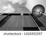 looking up at modern corporate... | Shutterstock . vector #1203352357