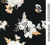 seamless floral pattern.... | Shutterstock .eps vector #1203356584