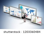 concept of business charts and... | Shutterstock . vector #1203360484