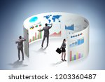 concept of business charts and... | Shutterstock . vector #1203360487