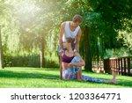 full length shot of young woman ... | Shutterstock . vector #1203364771