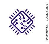processor line vector icon for... | Shutterstock .eps vector #1203366871